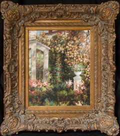 Large Original Floral Landscape Oil Painting