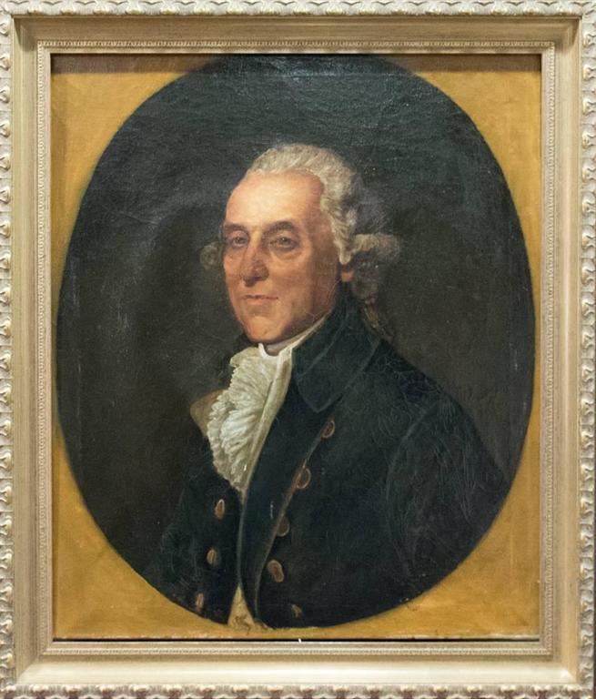 Thomas Beach - 18th Century Portrait Oil Painting, British School - Black Portrait Painting by Thomas Beach