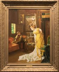 19th Century Oil Painting by Alfred Emile Leopold Stevens