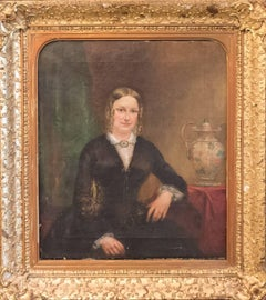 19th Century English School Oil Painting – Portrait of Mary Woodal