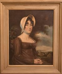 Large 19th Century Oil Painting – Portrait of a Lady