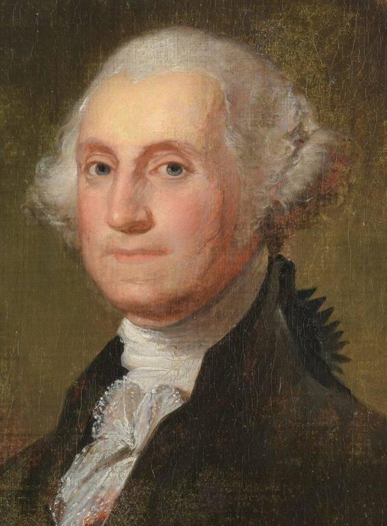 Portrait of George Washington - Painting by Manuel de Franca
