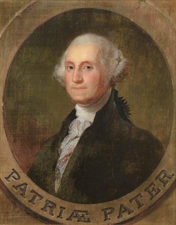 Portrait of George Washington - Brown Portrait Painting by Manuel de Franca