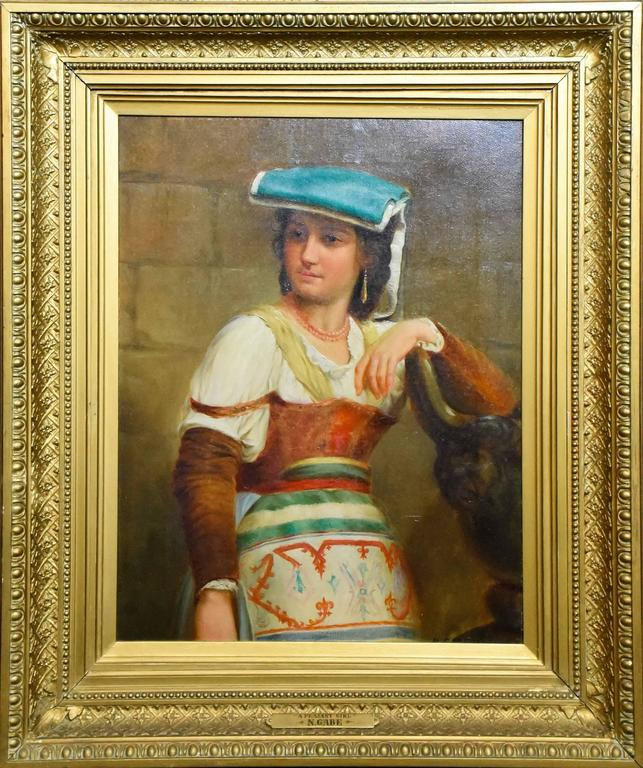 Nicholas Edward Gabe - Remarkable 19th Century Original Oil Painting by Renowned Nicholas Edward Gabe 1
