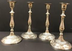 Remarkable Set of Four (4) George III Sterling Candlesticks, 1799