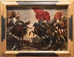 """Vincent Adriaenssen Leckerbetien (Il Manciola) Entitled """"Cavalry Battle Scene"""""""
