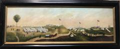 Amazing 19th Century Civil War Oil Painting by James Hope