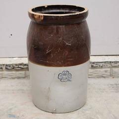 Antique 19th Century Miller Pottery Stoneware Five Gallon Crock