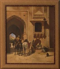 19th Century Original Orientalism Oil Painting by Almal Al Sada