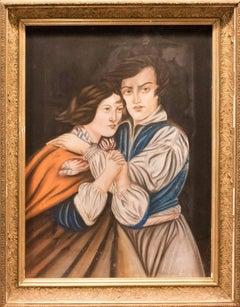 19th Century Pastel on Canvas Portrait