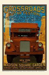 Rare Original Crossroads Guitar Festival Poster – 2013, by Chuck Sperry