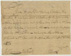 Revolutionary War Document Signed by Oliver Ellsworth