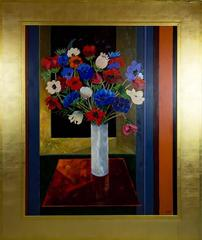 Very Large Floral Still Life by French Artist Jean-Luc Messin