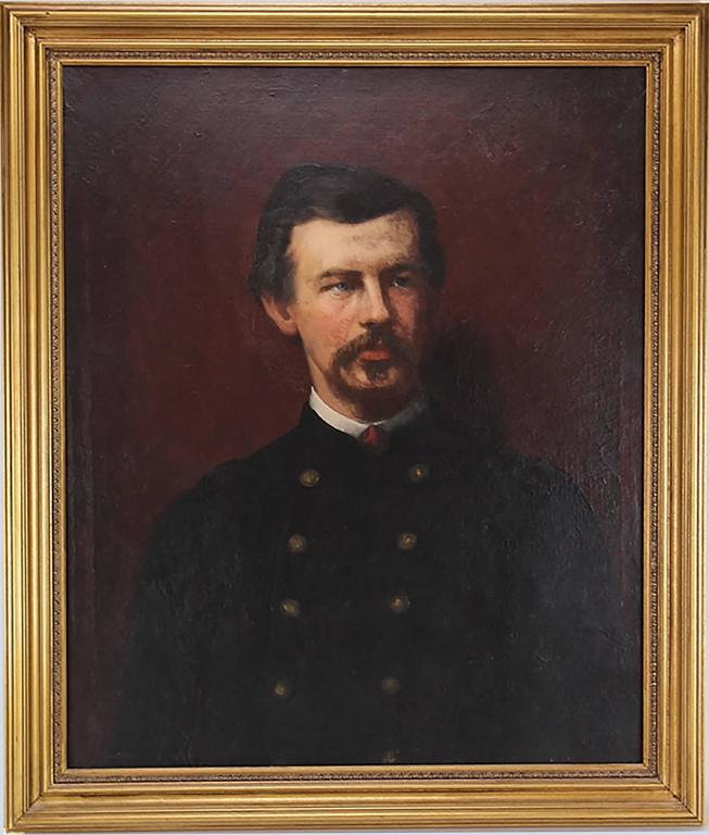 Eastman Johnson - Amazing 19th Century Portrait of Civil War Colonel Robert Shaw by Eastman Johnso 1