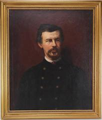 Amazing 19th Century Portrait of Civil War Colonel Robert Shaw by Eastman Johnso