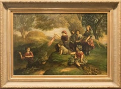 19th Century Oil painting by David Jacobsen – Landscape Scene
