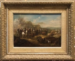 18th Century Oil Painting Entitled Conquistadors After Battle