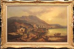 Large 19th Century Oil Painting by Esteemed British Artist William R. Stone