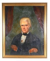 Early 19th Century Folk Art Portrait of President Andrew Jackson