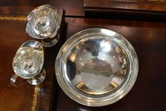 Tiffany & Co. Sterling Silver 3 Piece Set – Bowl, Cream Pitcher and Sugar Bowl