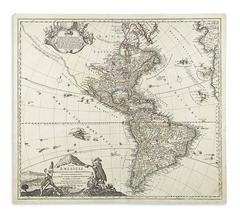 """Totius Americae Septentrionalis et Meridionalis"" 1720 Map of Americae by Homann"