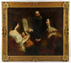 Important 19th Century Oil Painting by British Portraitist Samuel West