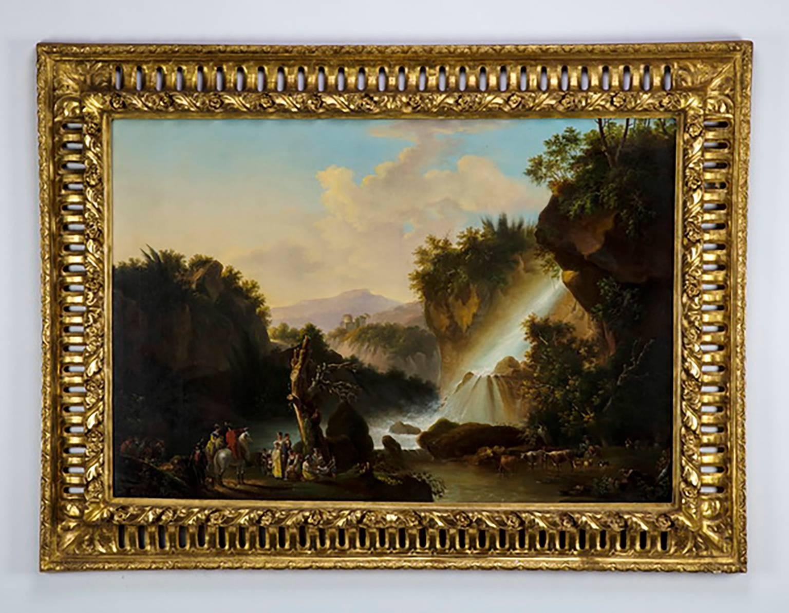 Large Florentine Renaissance Stye Oil Painting in the Manner of James de Louther