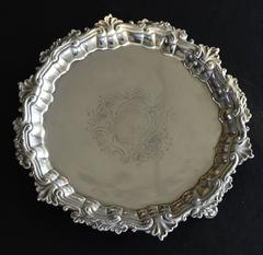 Antique George III Sterling Silver Salver (1747)