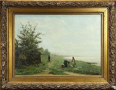 Important Landscape Oil Painting by Maurits Constantin Lapidoth