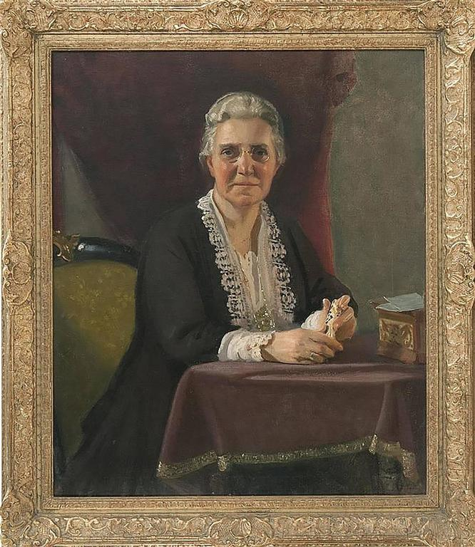 Portrait Painting of Katherine B. Child by Charles Sydney Hopkinson