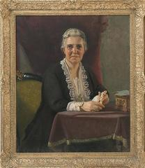 Portrait Painting of Katherine B. Child by Charles Sydney Hopkinson