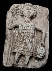 Byzantine Era High Relief Stone Tablet with Byzantium Figure