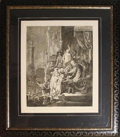 Important Original 19th Century Armond Durand Etching After Rembrandt