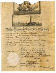 Andrew Jackson signed ship passport with unusually large signature