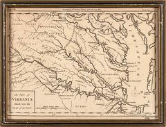 "18thC. Revolutionary War Map ""The Part of Virginia which was the Seat of Action"""