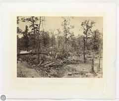 George N. Barnard Civil War Albumen Photograph – Battle Field of Atlanta GA