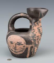 Original Pablo Picasso Ceramic, Centaur Au Visages, Rare Enameled Earthenware