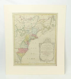 Historic and Important Antique Map of Colonial America at Start of the Revolutio