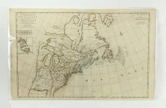 Rare Antique Map of Colonial American Circa 1700 by Pierre Mortier (France)