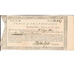 Remarkable Revolutionary War Pay Voucher of Major Roger Alden, Survivor of 1777