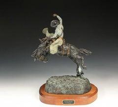 "A Large Jay Contway Original Sculpture ""Saddle Bronc"""