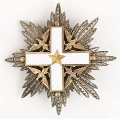 Rare Original Italian Order Of Merit Knight Grand Cross Breast Star Badge