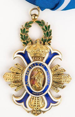 Original Spanish Order of the Civil Merit Grand Cross with Sash