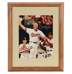 Authentic Certified Signed Cal Ripken Jr. Framed Photograph