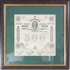 Near Mint CSA 500 Dollar Loan Bond No. 40407 Certificate
