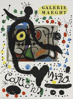 Original Joan Miro Galerie Maeght Lithographic Exhibition Poster