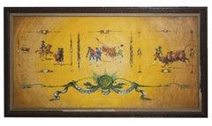Wonderful Large Spanish Oil Painting Entitled 'Leyenda De Toros' (Legend of the