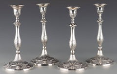Remarkable Set of Four (4) George III Sterling Candlesticks