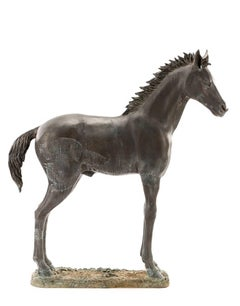 Stunning Large Bronze Sculpture of a Standing Horse