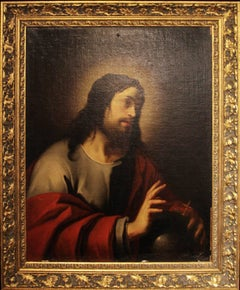 Oil Painting After Jacques Blanchard Entitled Salvator Mundi